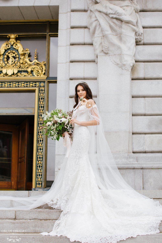 Detachable Off The Shoulder Bridal Cape Sleeves (MARIAH