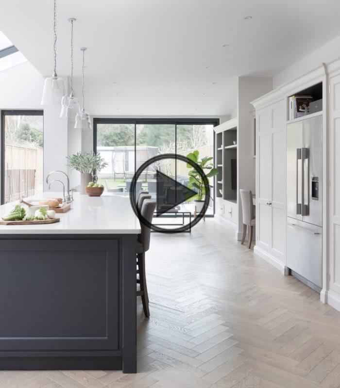 Herringbone Vloeren Van Element 7 North London Project In 2020 Open Plan Kitchen Living Room Herringbone Floor Parquet Flooring