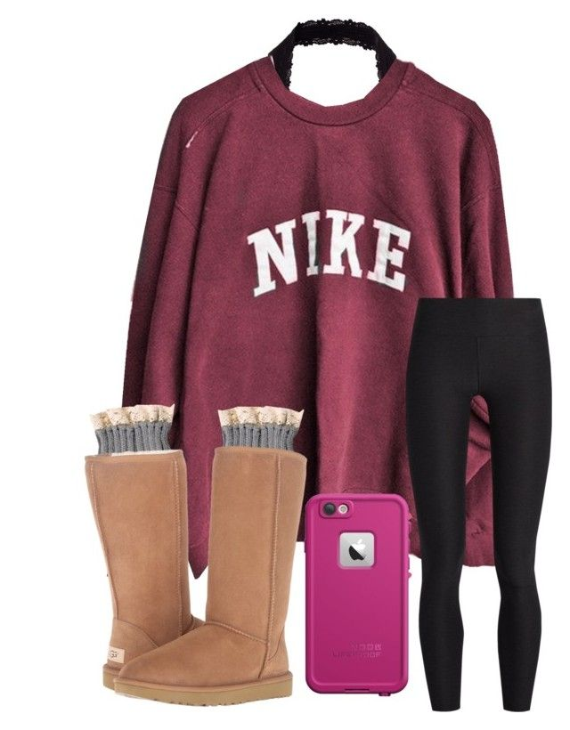 """""""being with you feels like home<3"""" by arieannahicks on Polyvore featuring Y.A.S, NIKE, A.P.C., UGG and LifeProof"""