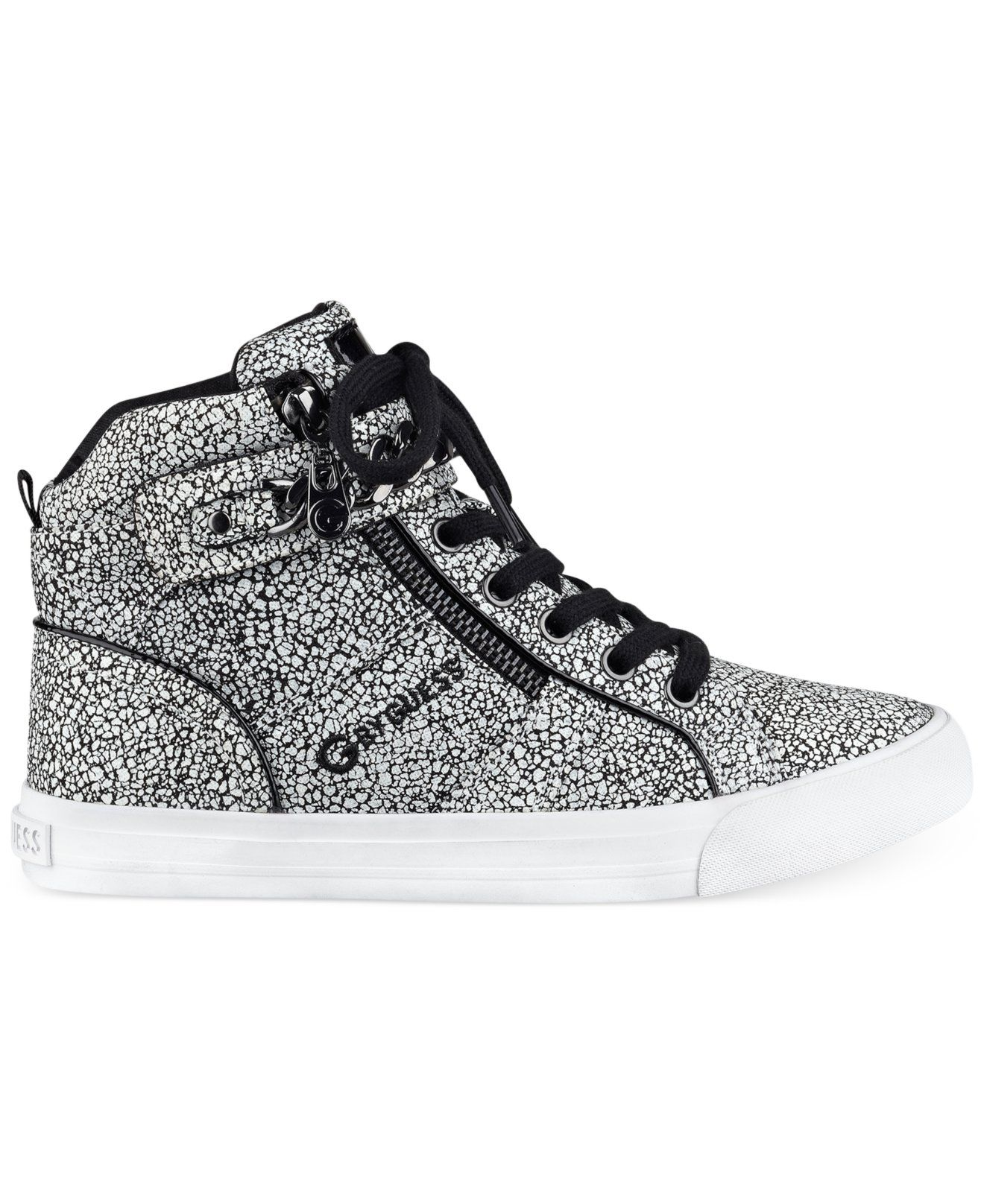 Perfect Styles G By Guess 's Orvan High-Top Fashion Sneakers White For Women Selling Well