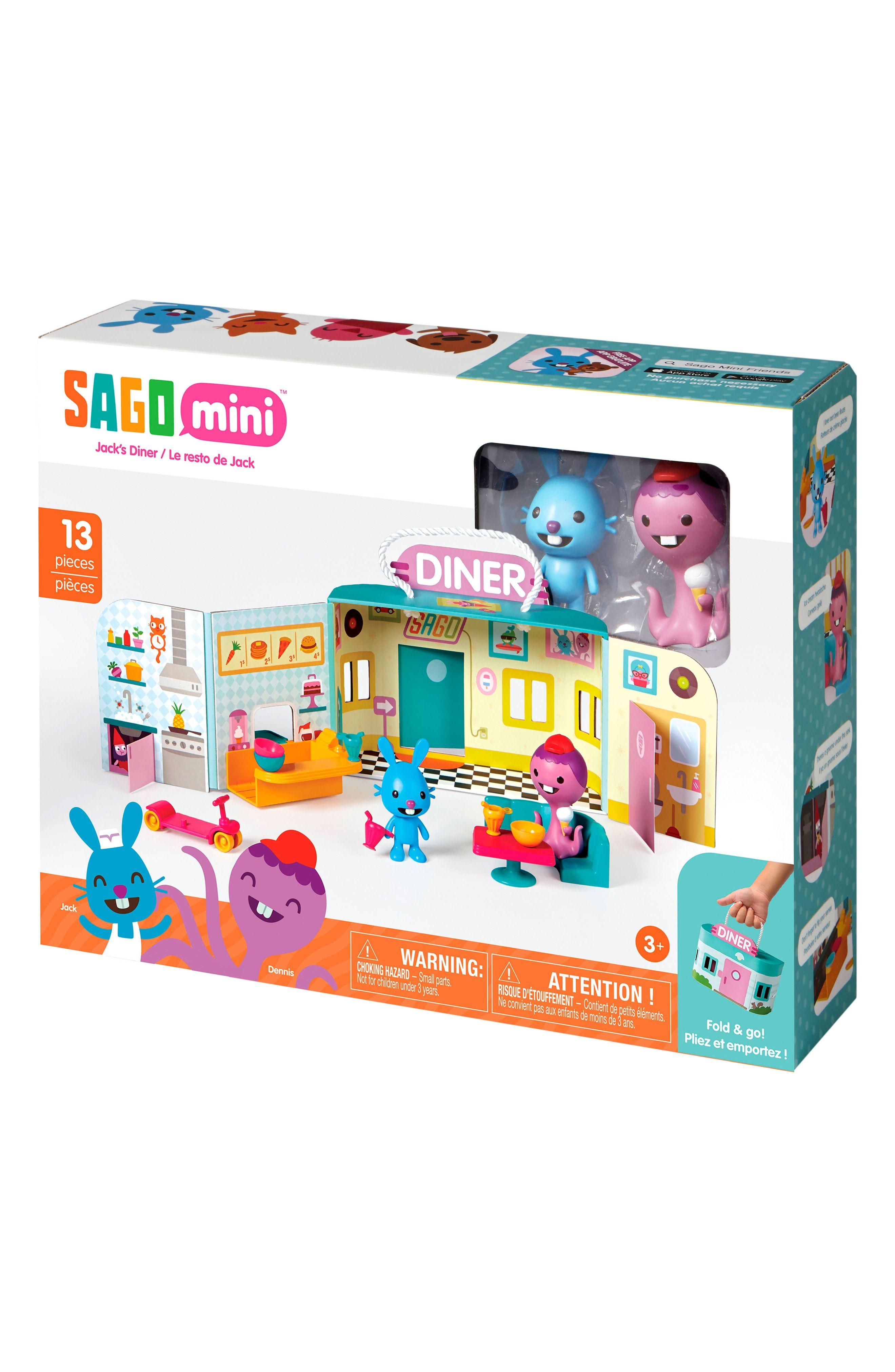 Sago Mini Jack's Diner Portable Play Set Board games for