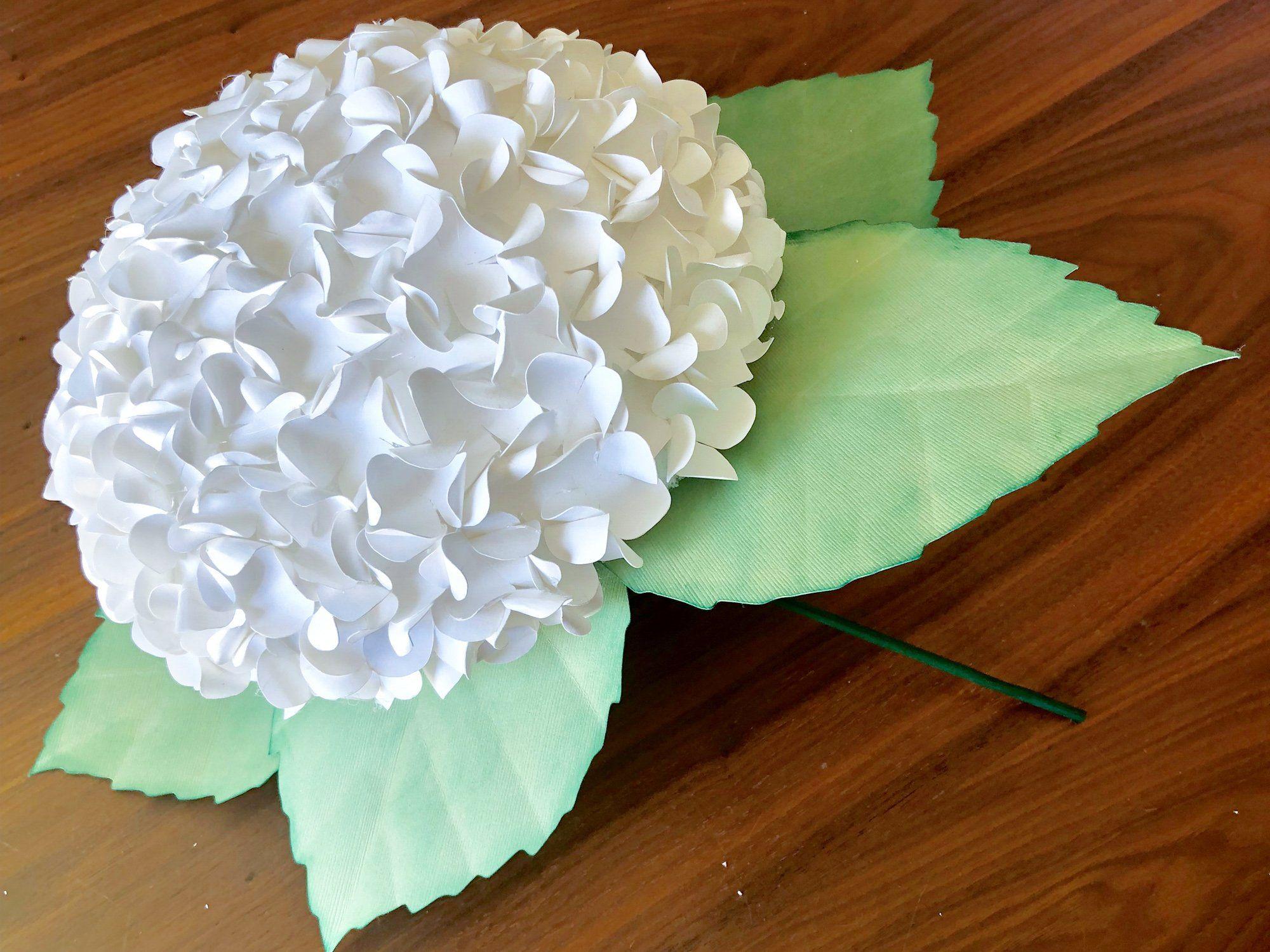 Diy Paper Hydrangea Flower Bouquet Silhouette School Paper