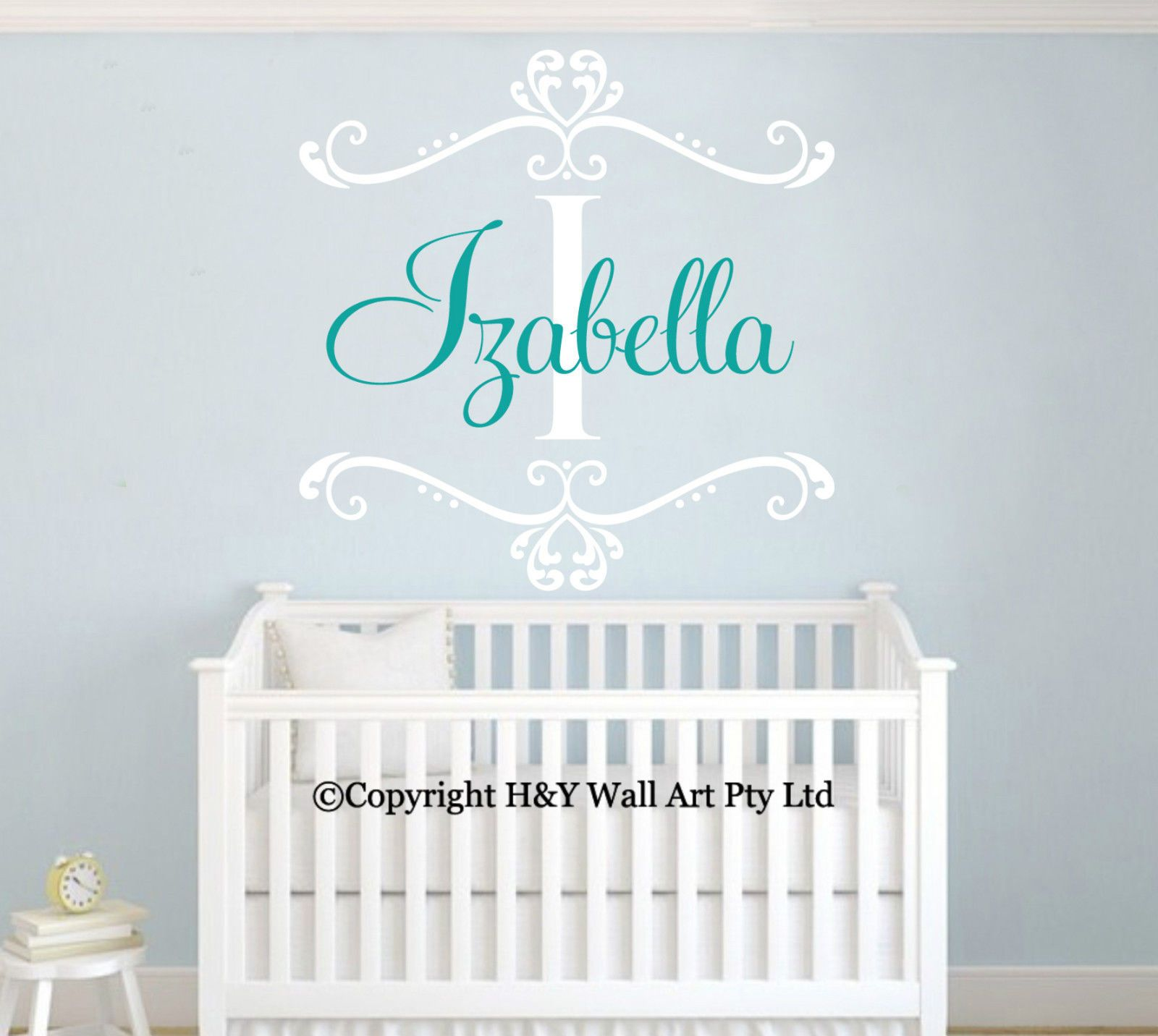 Custom Personalised Name Wall Art Stickers Kids Art Nursery Vinyl Decals  Decor Part 66