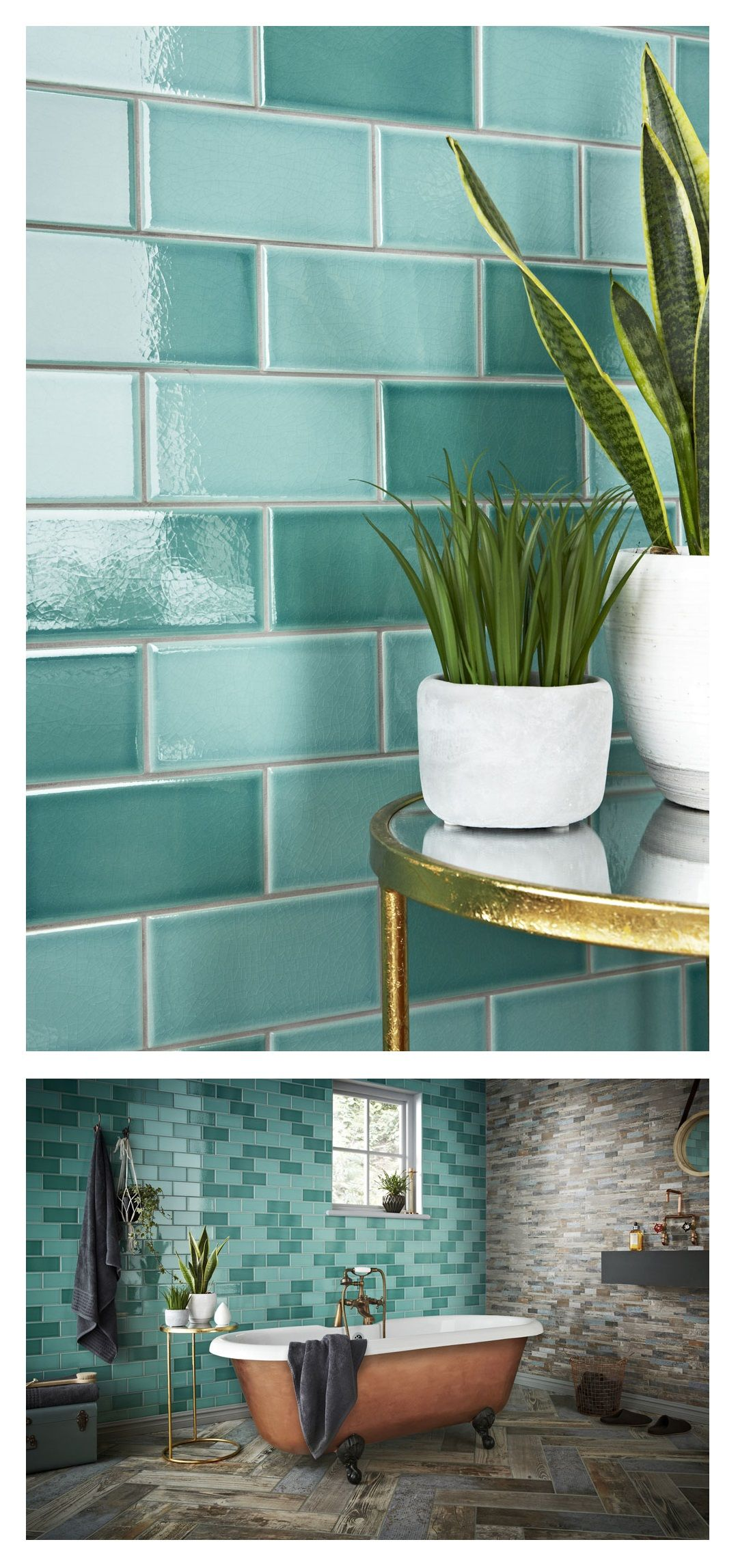 Teal Tiles: This Year\'s Must-Have Colour | Metro tiles, Teal and ...