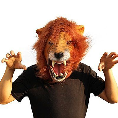 Creepy#party #deluxe novelty halloween costume #party #latex animal head mask lion,  View more on the LINK: 	http://www.zeppy.io/product/gb/2/162051727523/