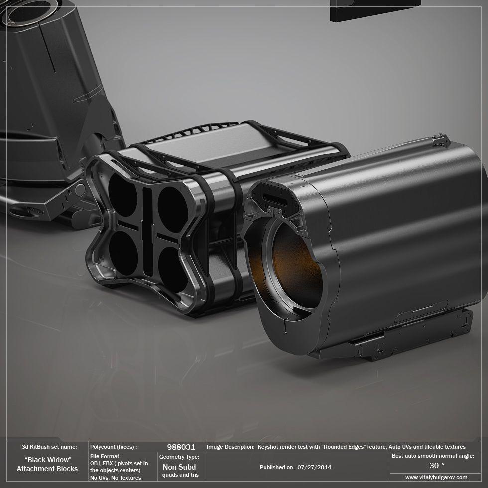 Industrial Light And Magic San Francisco Ca: Black Widow: Attachment Blocks Pack