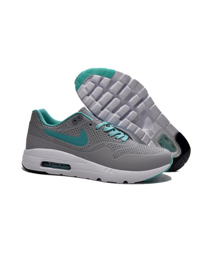 best authentic 71325 6311e Homme Nike Air Max 1 Ultra Moire Gris Bleu Chaussures