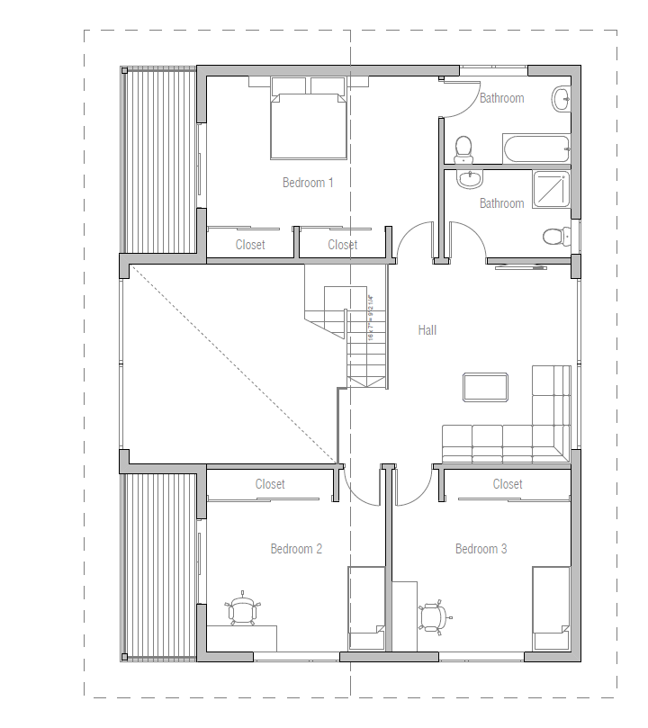 Hauspläne modern  house design small-house-plan-ch16 11 | Hauspläne | Pinterest ...