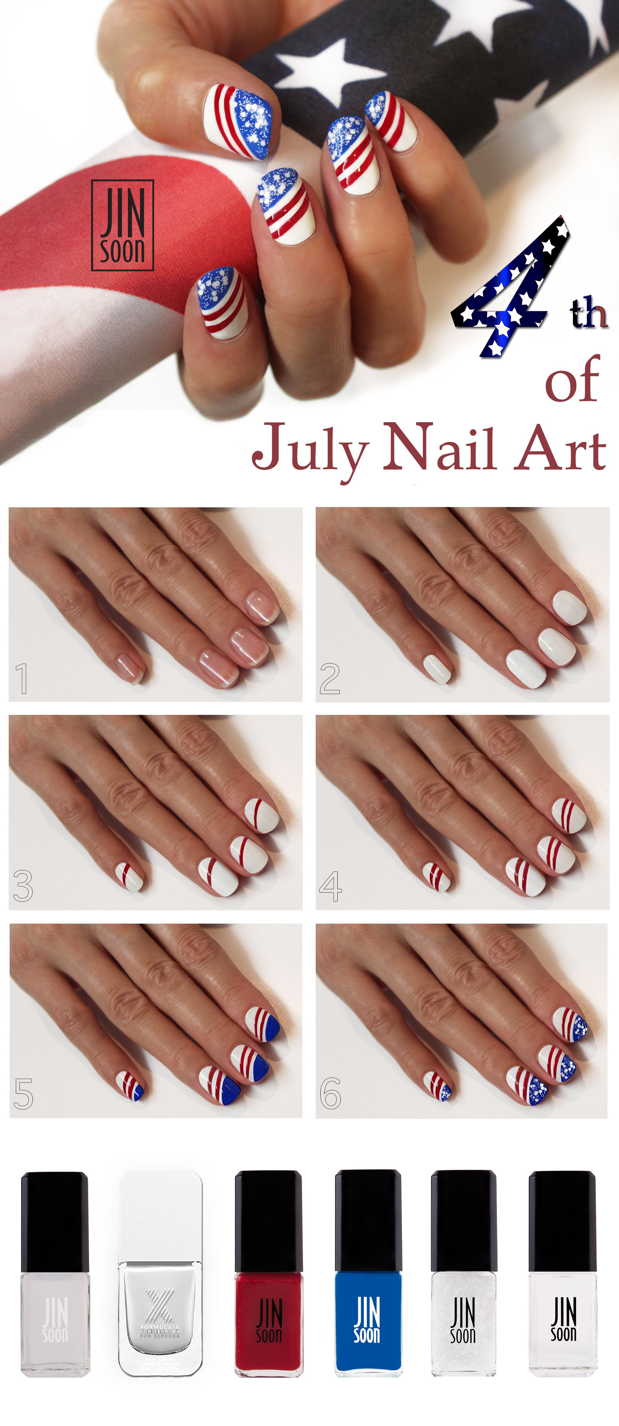 Fourth of July Manicure HOW TO from JinSoon #Sephora ...