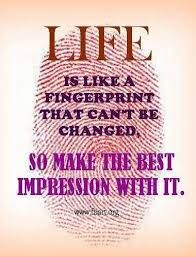 How do you want to leave your mark on the world? Share ... |Leave Your Fingerprint Quotes