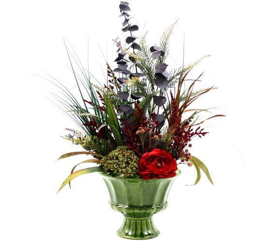Spring Decor Silk Flower Arrangement, Home Decorating, Dining Table  Centerpiece, Living Room Decor