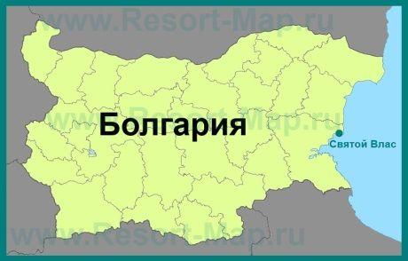 Svyatoj Vlas Na Karte Bolgarii Karta Kurorty Bolgariya