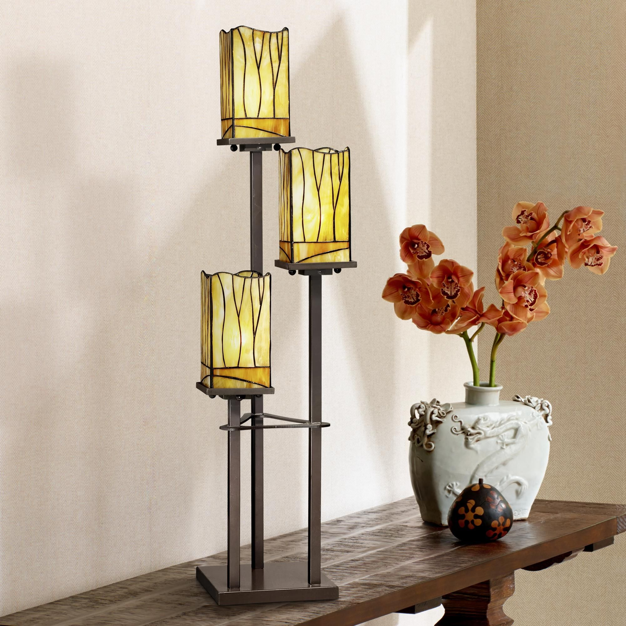 Sedona Collection 3 Tier Console Tiffany Table Lamp