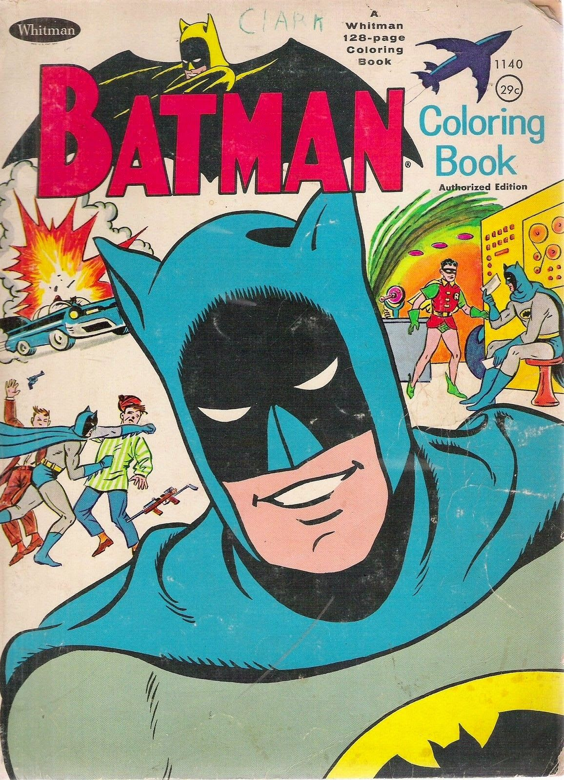 Pop Artifact Vintage Batman Coloring Book