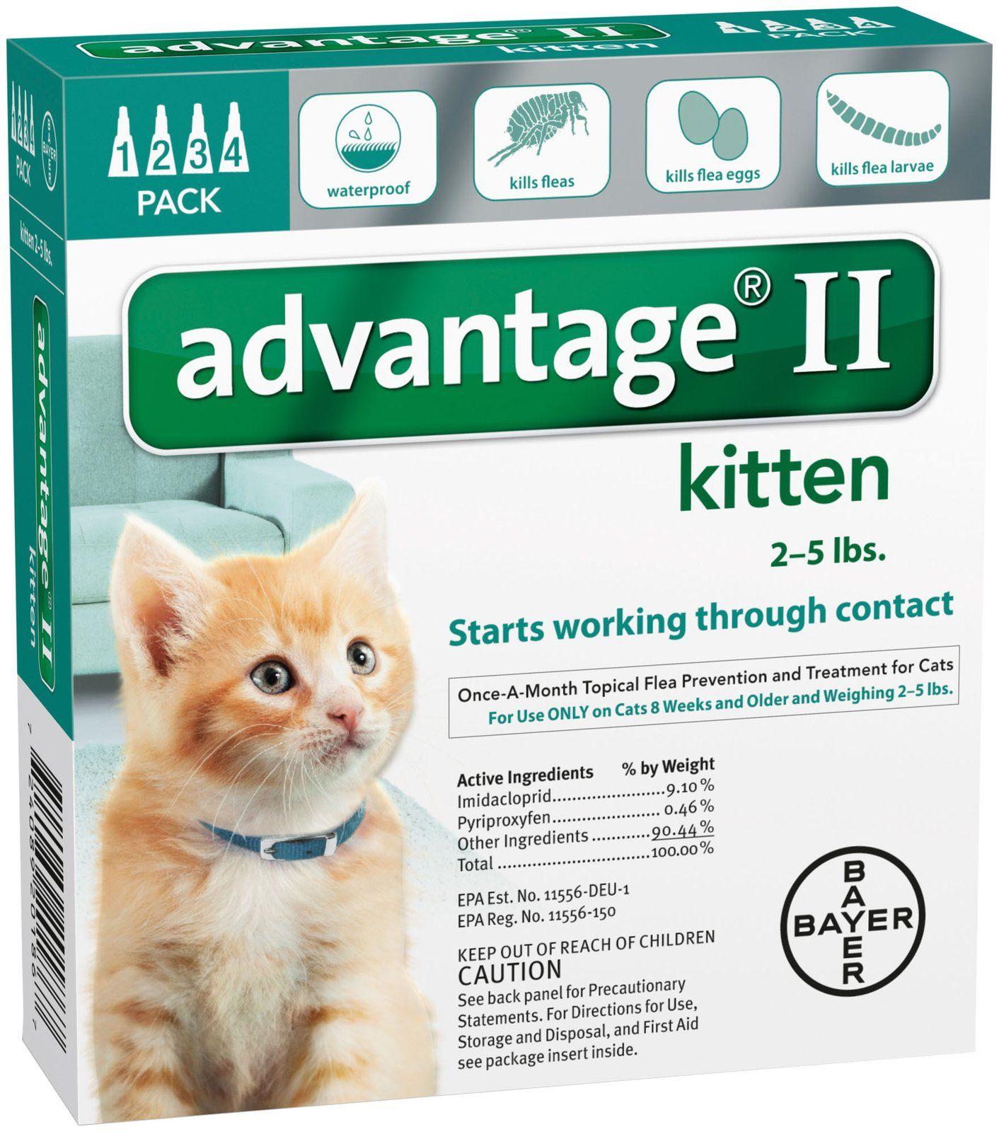 Advantage Ii Kitten Free Shipping Cat Fleas Flea Treatment For Kittens Flea Medication For Dogs