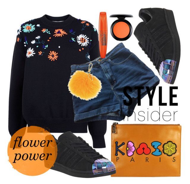 """Flower Power"" by buba87 ❤ liked on Polyvore featuring Victoria, Victoria Beckham, American Apparel, Kenzo, adidas, Furla, MAC Cosmetics, Rimmel, superstar and jeansday"