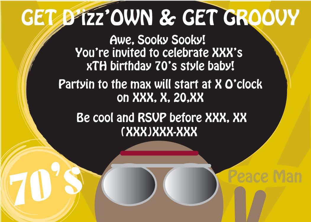 70\'s party theme | Results for 70 S Theme Party Invitations ...
