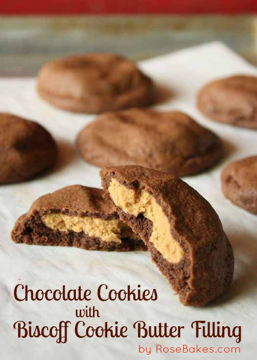 Chocolate Cookies With Biscoff Cookie Butter Filling Biscoff
