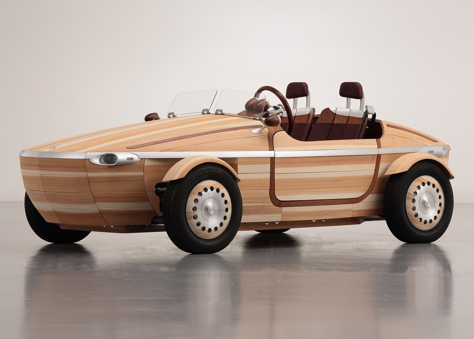 Toyota has created an open-top two-seater car made out of wood to ...