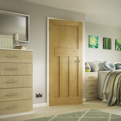 Premdor 1930s Shaker Style White Oak Internal Door Next Day