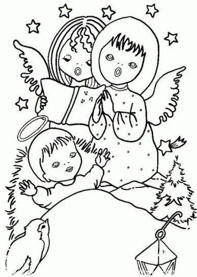 disegni da colorare angeli di natale