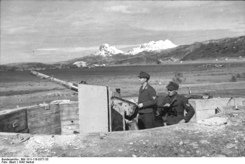 Bundesarchiv Bild 101I-118-0377-33, Norwegen, bei Bodö, Küstenbatterie, Geschütz.jpg