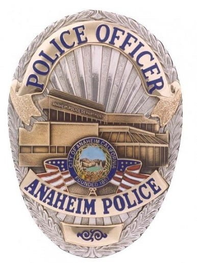 Anaheim Pd Calif Police Badge Police Patches Fire Badge