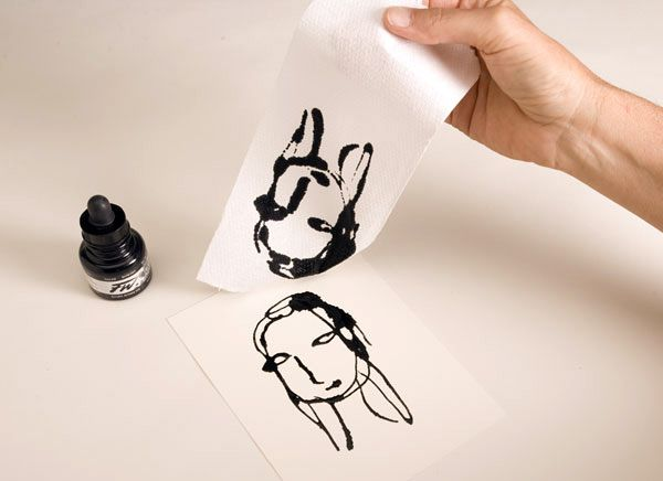 Eyedropper drawings with toilet paper ... unblock that creativity!