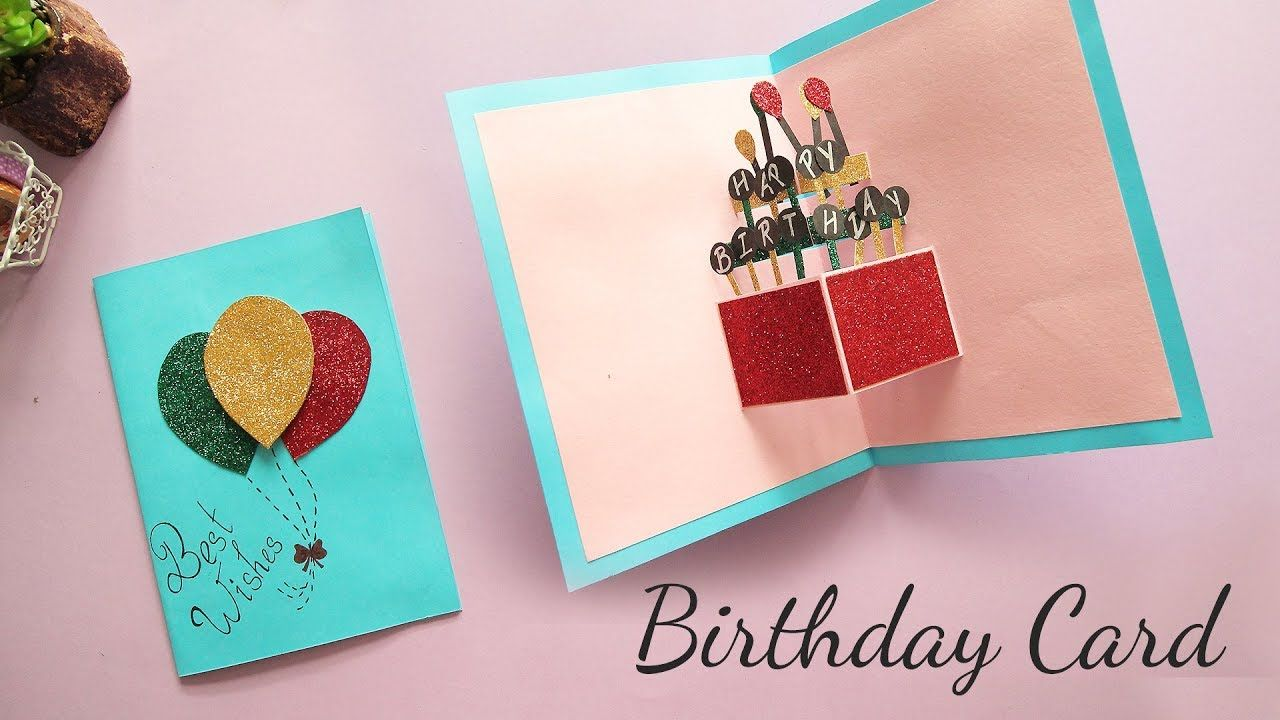 DIY Popup Birthday Card Card Making Handmade Card