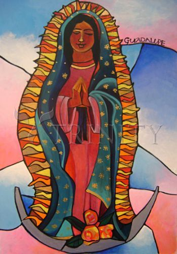 "Our Lady of Guadalupe | Catholic Christian Religious Art - Artwork by Br. Mickey McGrath, OSFS - From your Trinity Stores crew, ""Hail Mary full of grace…"""