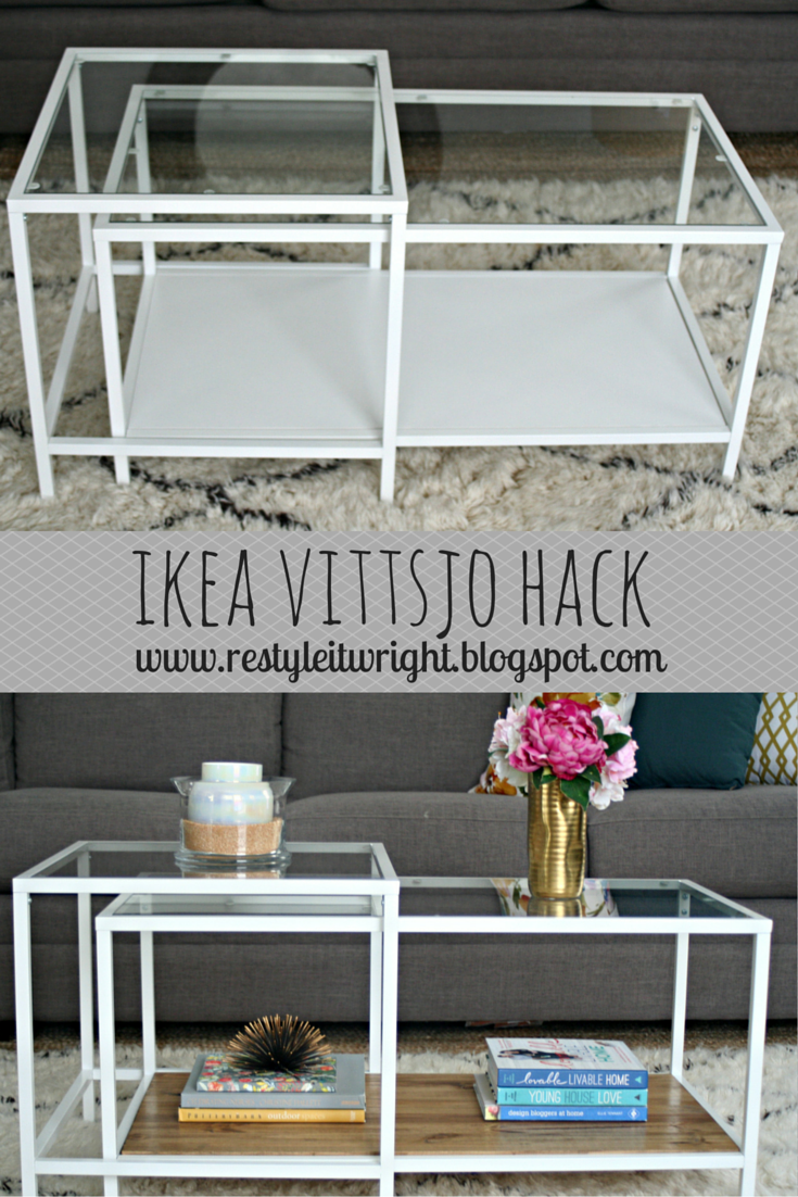 Vittsjo laptop table to upscale side table get home decorating - Ikea Vittsjo Hack Nesting Table Wood Stain Coffee Table