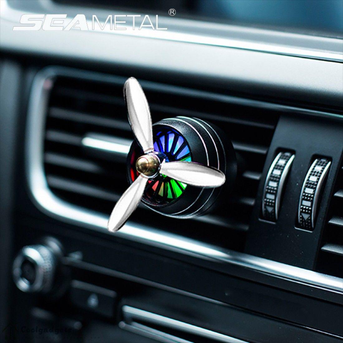 Air Freshener Car Fragrance Perfume Clip Diffuser LED