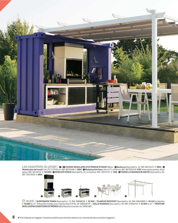Cuisine D Exterieur Dans Un Petit Container Tip Top Cuisine Exterieur Exterieur Decoration Exterieur