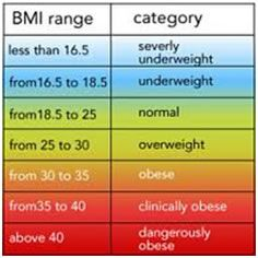 Table Bmi Calculator  The Interpretation Of Bmi Requires A Table