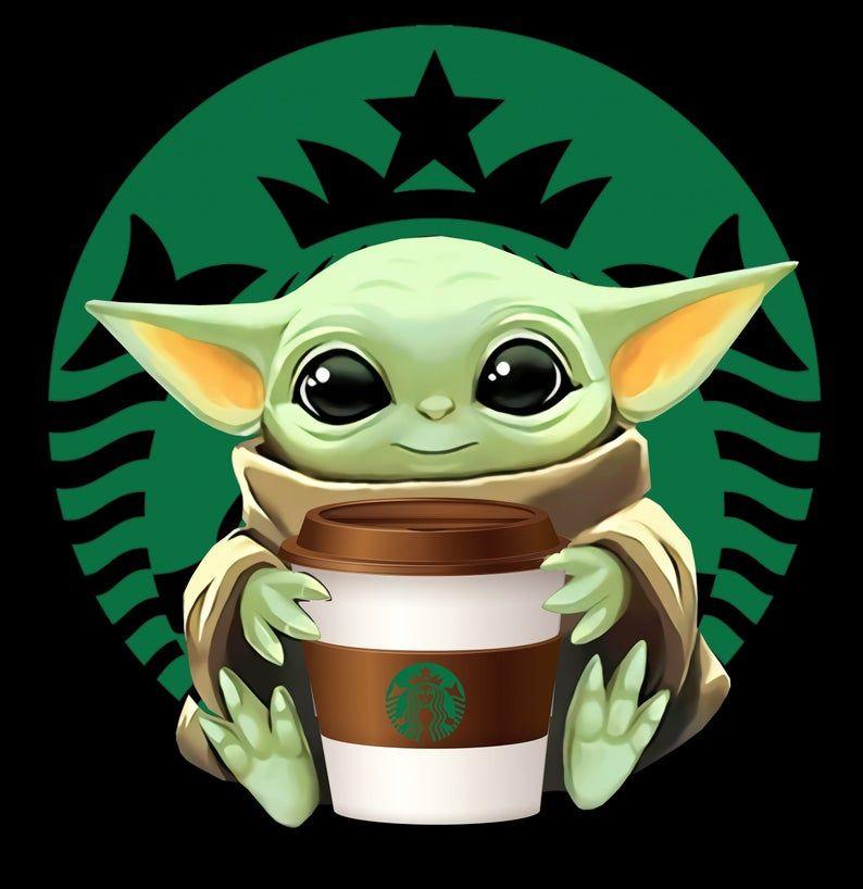 Baby Yoda Starbuck Coffee Sip Sip Png Psd Svg Files Etsy Yoda Wallpaper Cute Cartoon Wallpapers Cute Cartoon Drawings