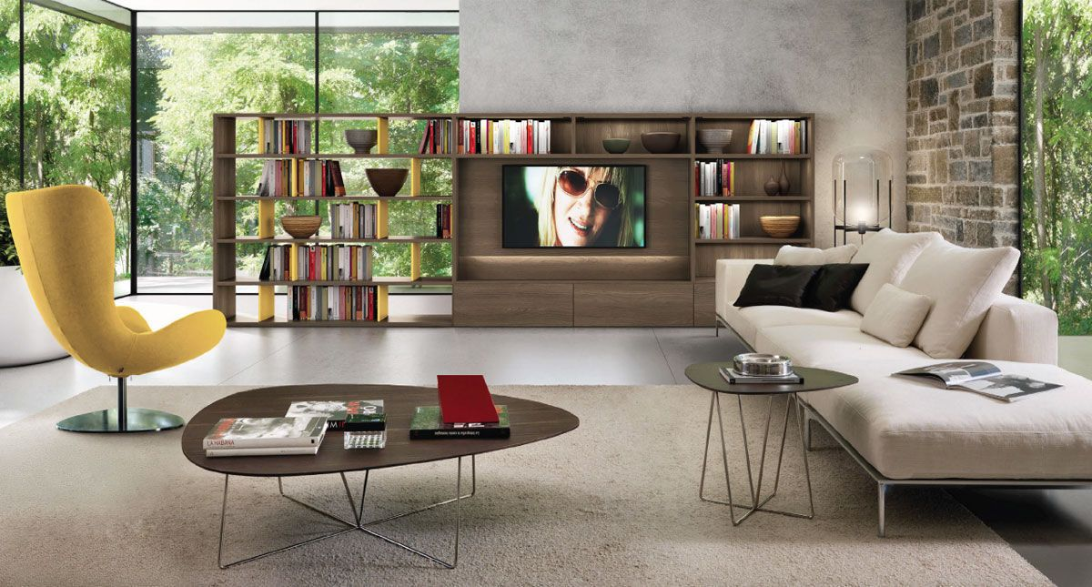 Discover all the information about the product contemporary tv wall unit elm melamine zalf and find where you can buy it