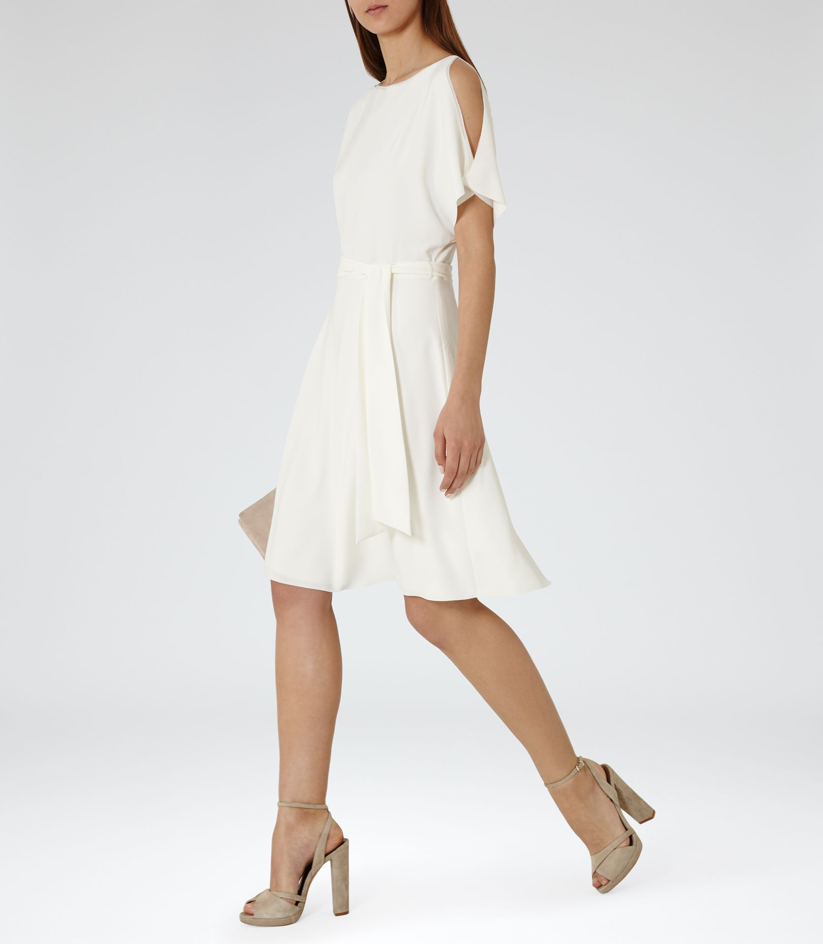 07a0d1b4f3a3 Womens White Sleeve-detail Dress - Reiss Hermione | all the pretty ...