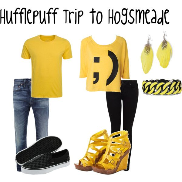 Hufflepuff Trip to Hogsmeade, created by nearlysamantha on Polyvore