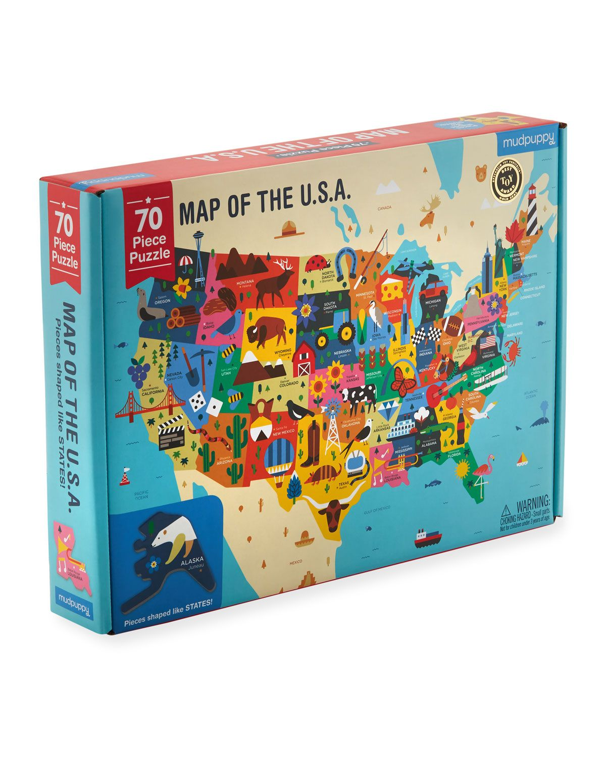Map of the USA Puzzle Usa puzzle, Map puzzle, Puzzle