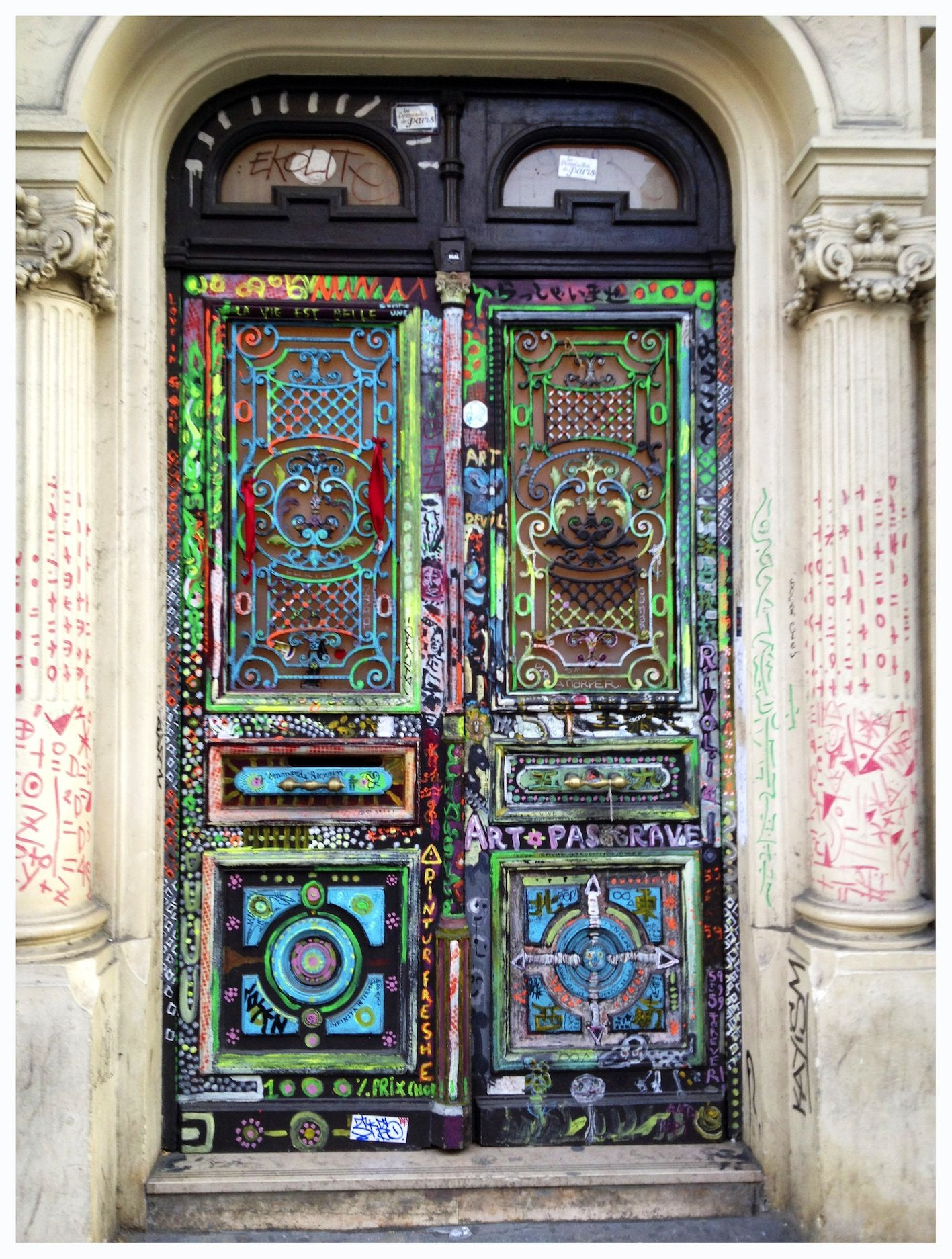 Very Artistic Unique Door...in Paris streets.... LOVE IT & Very Artistic Unique Door...in Paris streets.... LOVE IT :) | Door ...