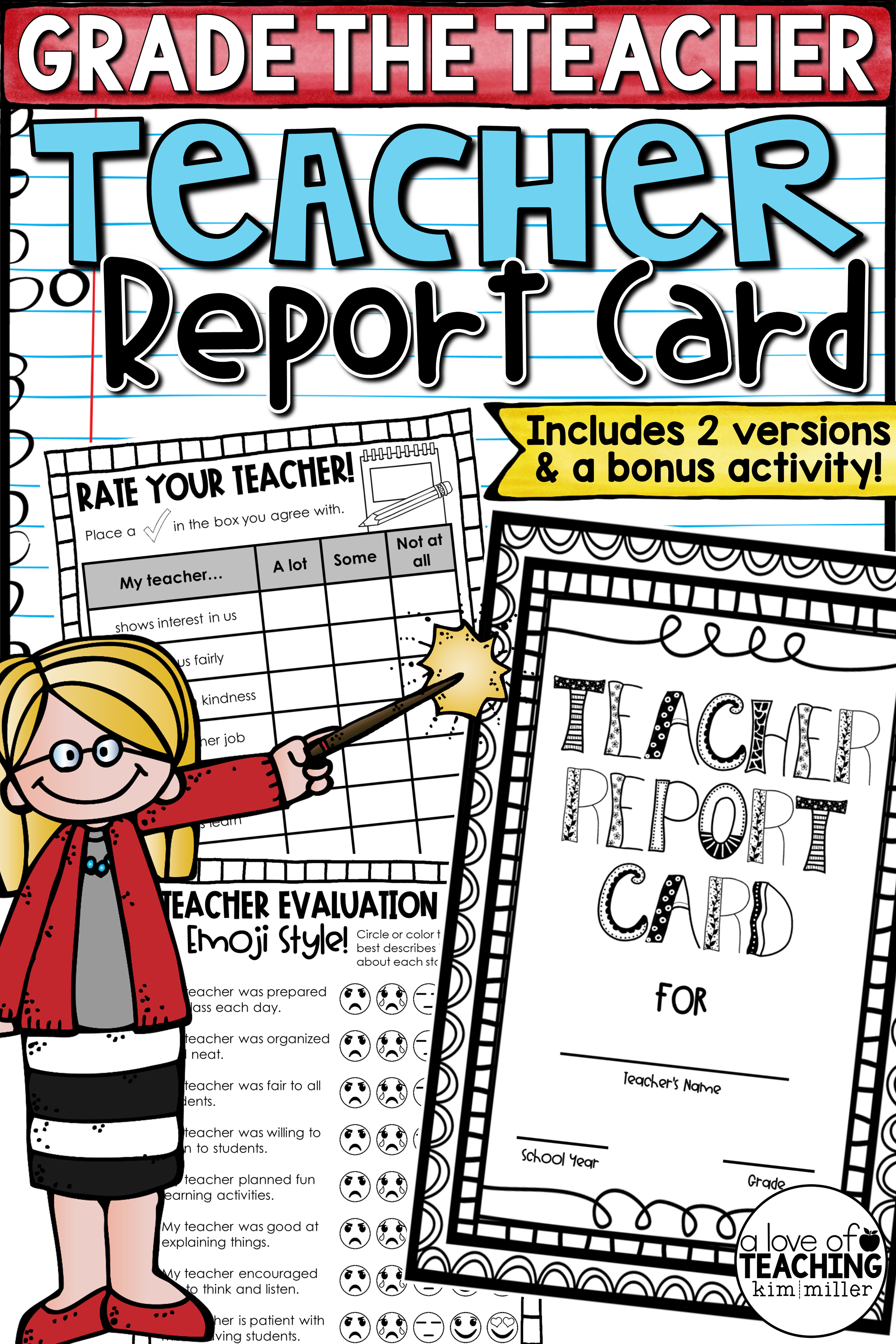 Teacher Report Card End Of Year Activity