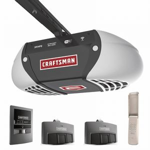 Craftsman Hp Chain Drive Garage Door Opener With 2 Multi Function Remotes Keypad Sh Craftsman Garage Door Craftsman Garage Door Opener Garage Door Opener