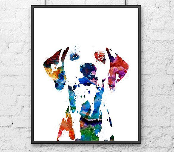 Dalmatiner Hund Kunstdruck Dalmatinischen Druck Hund Druck