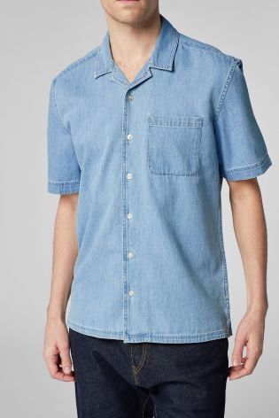 d232ba9be1ee This Denim Revere Shirt will keep you cool for the whole of summer! Perfect  for