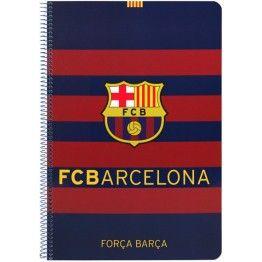 Bloc FC Barcelona cuadriculado Cuaderno tamaño folio del club blaugrana con  tapas duras de cartón 80 hojas con cuadrícula 4x4 Dimensiones  21 085878e5058