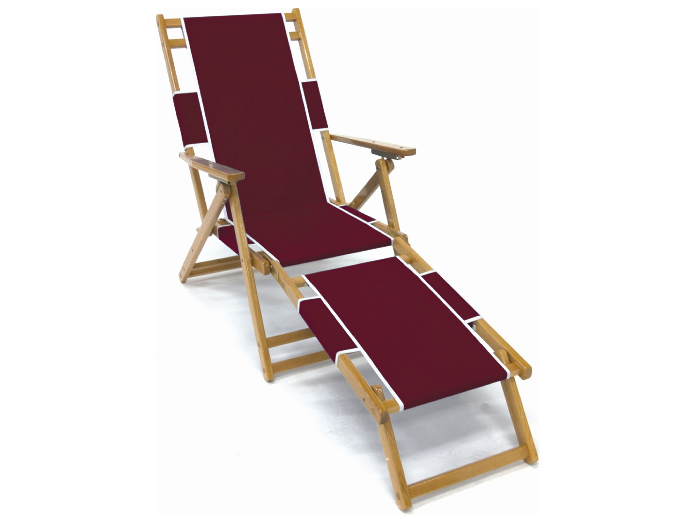 Frankford umbrellas oak wood beach lounge chair with