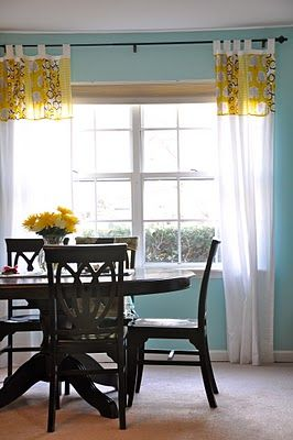 Love The Black On Blue  Love Green On Curtains  May Repaint Entrancing Funky Dining Room 2018