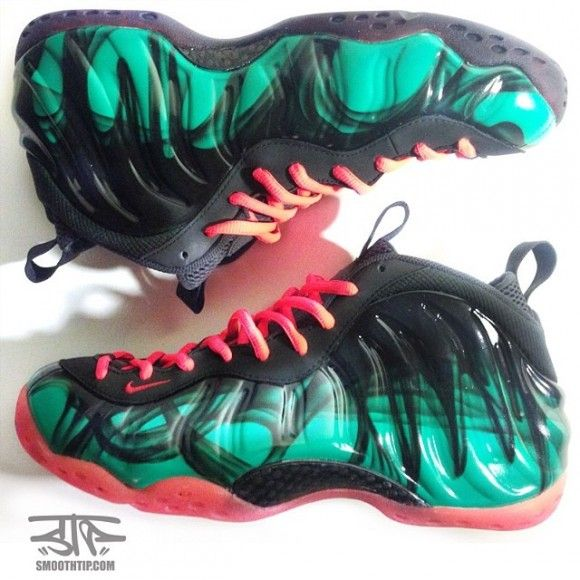 best sneakers 79a4e 99af8 nike air foamposite south beach thermal customs by smooth tip productions