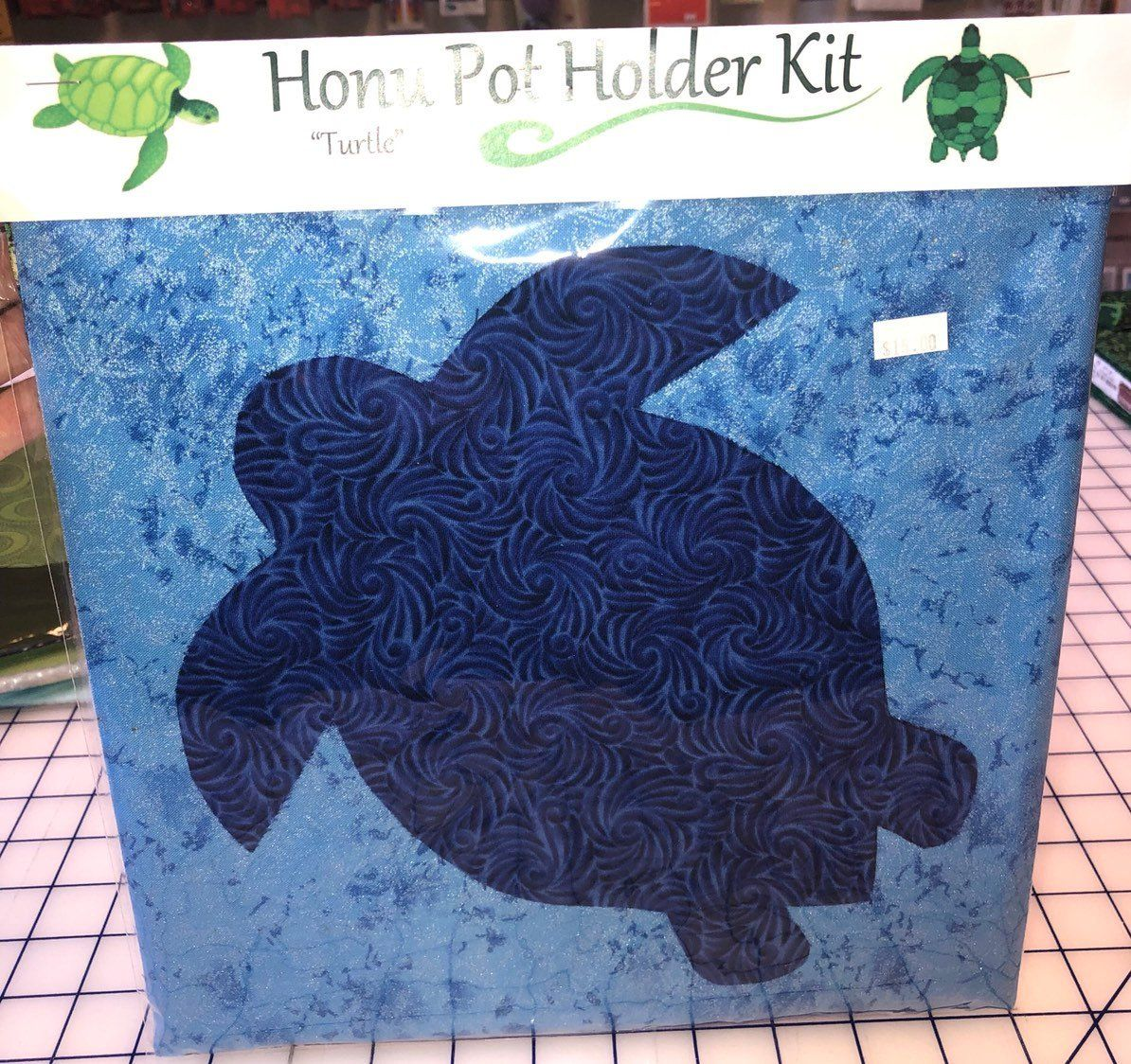 Custom turtlehonu Hawaiian quilting style Pot Holder Kit
