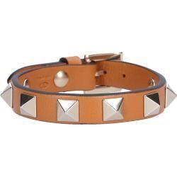 Armband Rockstud Kalbsleder Nieten braun Valentino